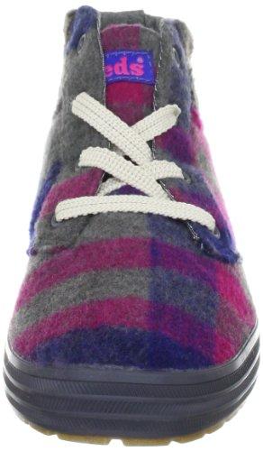 Keds Varsity Bootie Wool light grey WF44937 - Zapatos casual de tela para mujer Gris (pink/grey)
