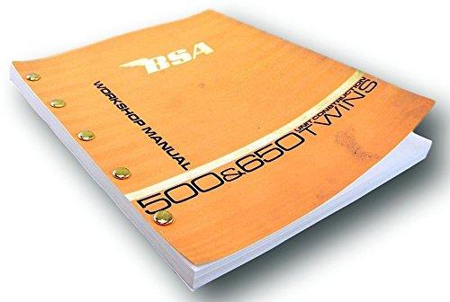 Bsa A65 Hornet A65 Wasp Service Repair Workshop Manual Unit Construction Twins