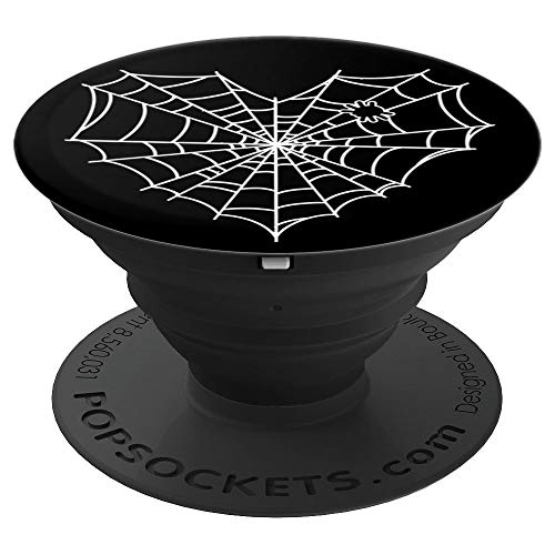 Halloween Spider Web Heart - PopSockets Grip and Stand for Phones and Tablets