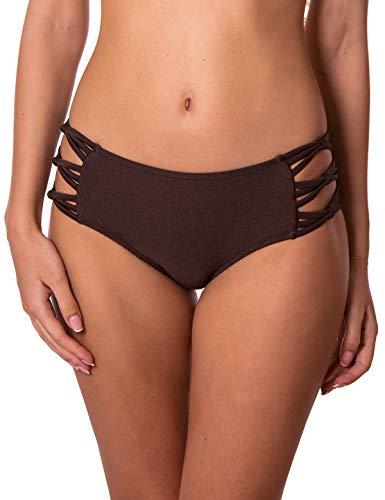 RELLECIGA Women's Brown Strappy Bikini Bottom Size Small ()