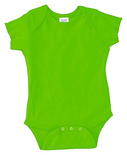- Rabbit Skins Infants'5 oz. Baby Rib Lap Shoulder Bodysuit, 12MOS, KEY LIME