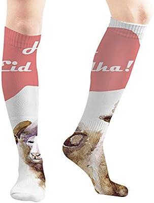 Unisex Sheep Pattern Knee High Compression Thigh High Socks Tube Socks