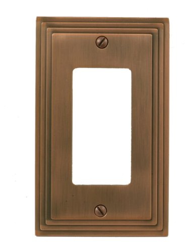 Amerelle 84RAC Steps Cast Metal Wallplate, Antique (Antique Copper Cast)