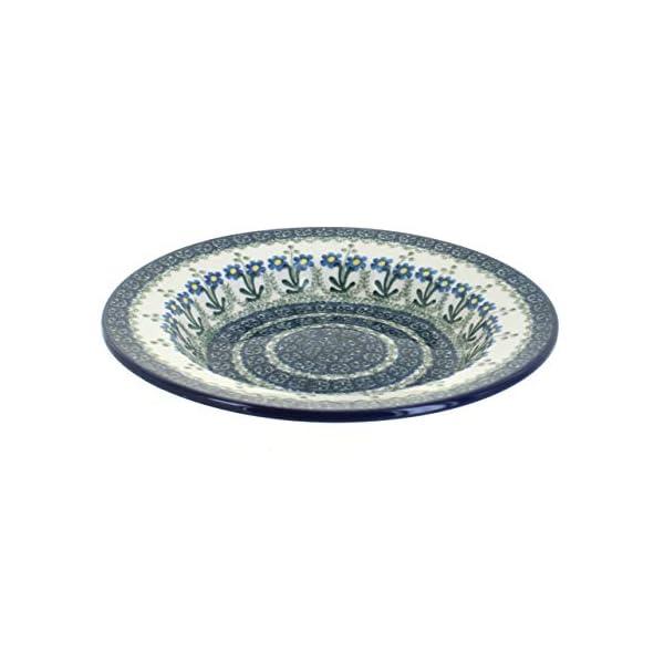 Blue Rose Polish Pottery Blue Posy Soup Plate