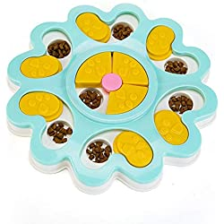 Leslily Puzzle Feeder, Puppy Treat Dispenser Dog Toys Dog Food Puzzle Toys Bowl Puppy Feeder Puzzle Feeder Cat & Dog Toy