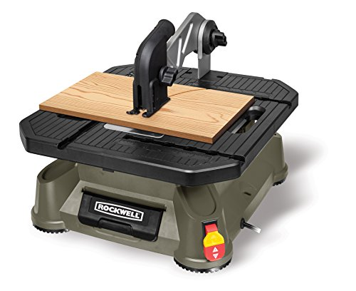 - Rockwell BladeRunner X2 Portable Tabletop Saw with Steel Rip Fence, Miter Gauge, and 7 Accessories - RK7323