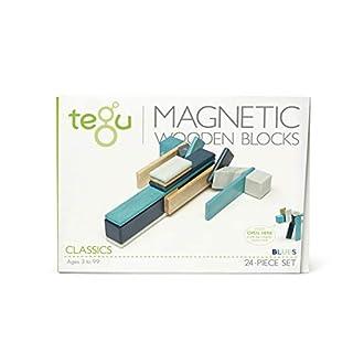 24 Piece Tegu Magnetic Wooden Block Set, Blues