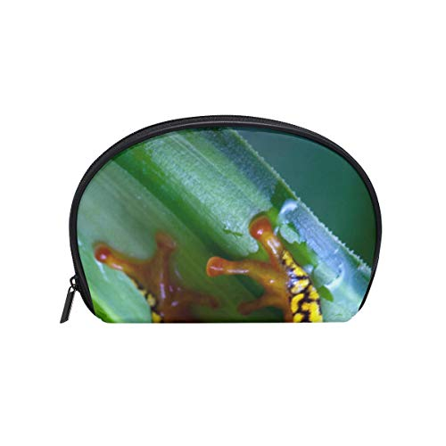 Makeup Cosmetic Bag Harlequin Poison Dart Frog with Zipper ()