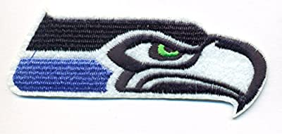 """Seattle Seahawks Logo Football NFL Embroidered Iron On Patches Hat Jersey 4"""" x 1 1/2"""""""