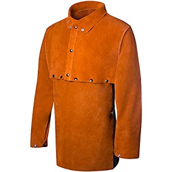 Steiner 1213-X Cape Sleeve With 19-Inch Bib, Domestic Brown Split Cowhide, Extra Large