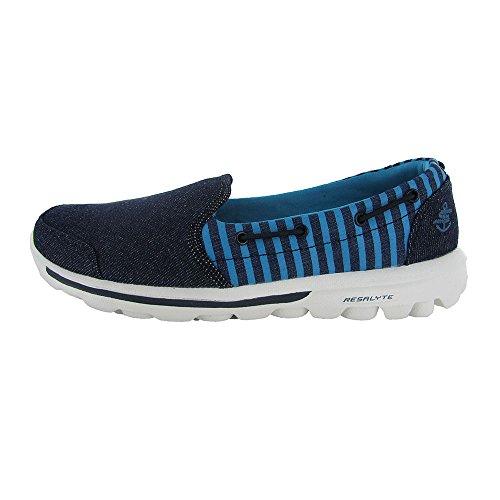 Skechers Womens Go Walk Skipper 13759 Chaussure Mocassin Marine / Bleue