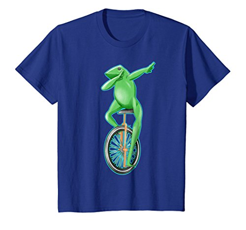 Kids Dabbing frog dat boi on a unicycle 8 Royal Blue