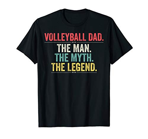 (Retro Volleyball Dad The Man The Myth The Legend)