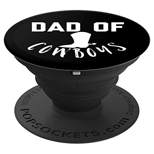 Dad of Cowboys Funny Joke Saying Gadget Stocking Stuffer - PopSockets Grip and Stand for Phones and Tablets
