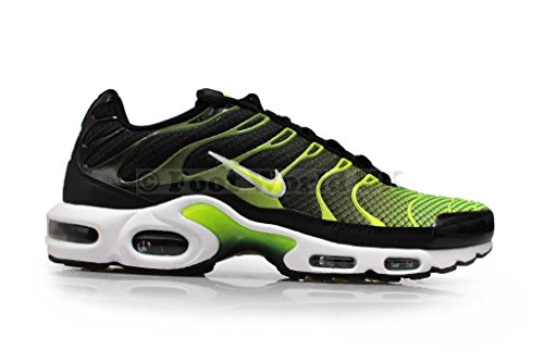 Nike Men's Air Max Plus TXT Running Shoes Black/Volt-White ua7Hl