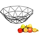 AIWANTO Creative Fruit Basket Bowl Metal Storage Container Centerpiece Display Bowl for Living Room Decoration and…