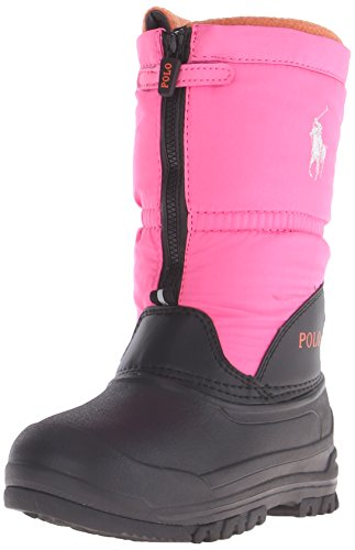 Polo Ralph Lauren Kids Avalanche Zip Winter Fashion Boot (Toddler/Little Kid/Big Kid), Bright Pink, 4 M US Toddler