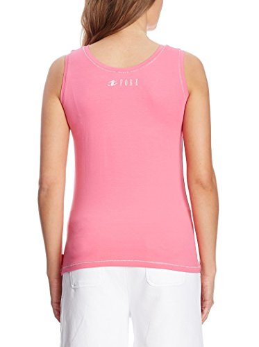 XFORE Camiseta top sin manga para mujer, Miami, color fucsia Fucsia