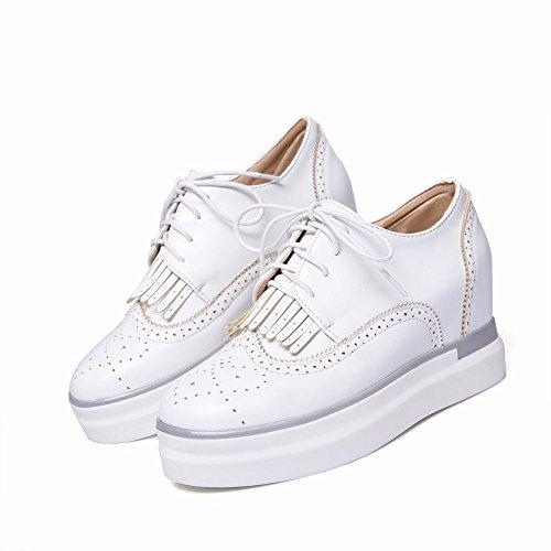 Latasa Kvinna Tofs Spets-up-plattformen Kilar Inne Oxford Shoes Vita