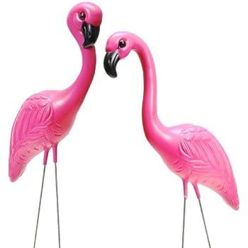 garden flamingos. Fun Express - Pink Flamingo Novelty Yard Lawn Art Garden Ornaments (1-Pack Of Flamingos I