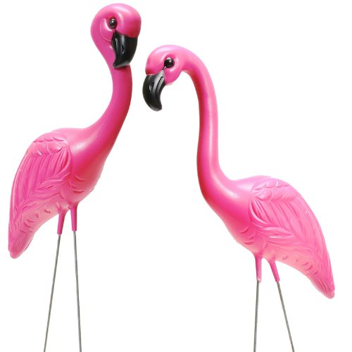 Mini Pink Flamingo Yard Ornaments