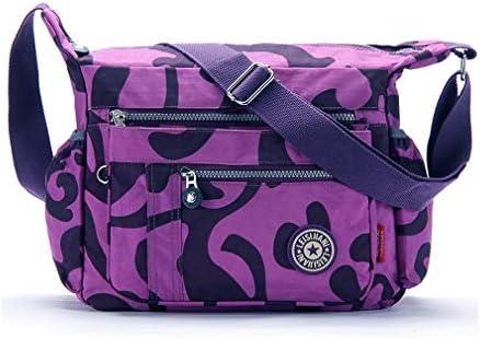 9948a9f0f75a Womens Multi Pocket Nylon Floral Shoulder Bag,Crossbody Bag ...