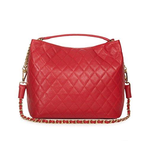 Mujer Bolso De Hombro 71071 Al Para Otra Piel myitalianbag Azul qgw68fxp
