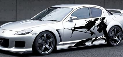 Amazon.com: Anime Girl with Swords Car Vinyl Side Graphics ...