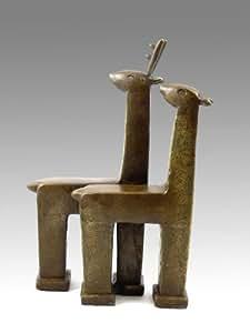 Moderna Escultura–Escultura de animales–Corzo Pareja–Firmada por Milo–de comprar–Esculturas comprar