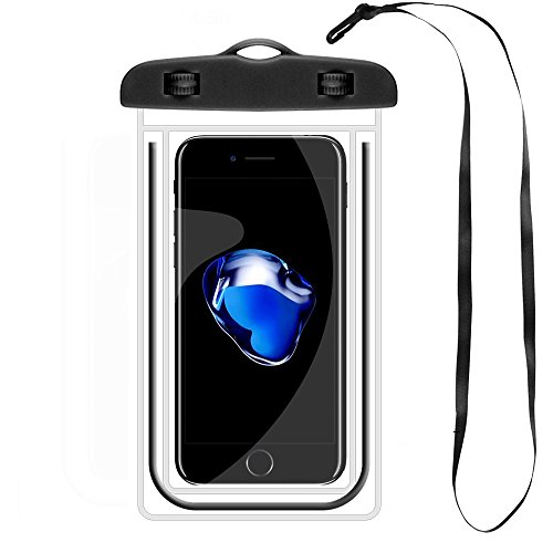 Waterproof Case, Dry Bag, Waterproof Phone Cases, Pouch for iPhone X iPhone 8/8 Plus 7/7 Plus 6/6S Plus Samsung Galaxy S8 S7 S6 Edge and Other Phones up to 6