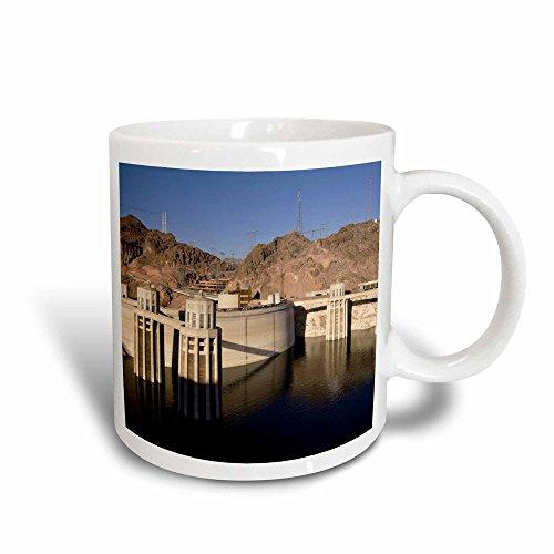 - 3dRose 92240_3 Low Water Levels At The Hoover Dam, Lake Mead, Nv Maresa Pryor Magic Transforming Mug, 11 oz, Black/White