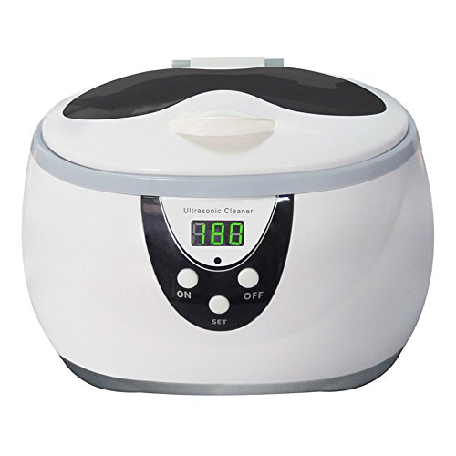 M Y Fly Young Ultrasound Cleaning Machine Ultrasonic Cleaner Cleaning Equipment Digital Timer Control Jewelry Eyeglasses Cleaner 600ml 35W 110V~220V Household Personal Use SKYmen JP-3800S