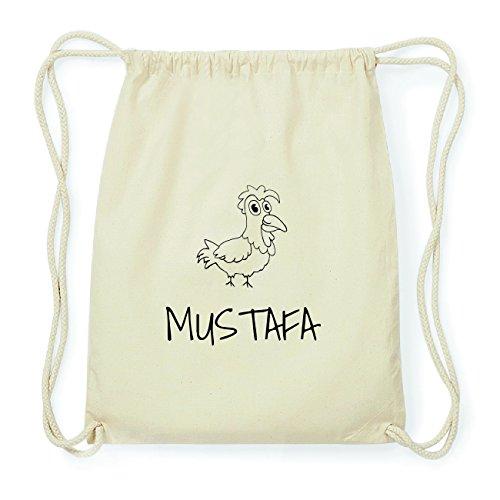 JOllipets MUSTAFA Hipster Turnbeutel Tasche Rucksack aus Baumwolle Design: Hahn Xe5xB2f