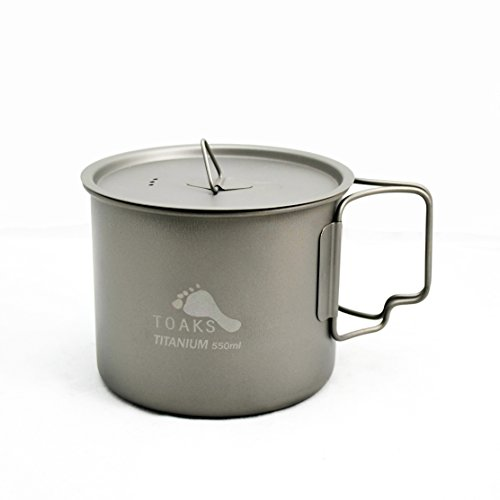 Titanium Cookset - TOAKS Titanium 550ml Pot (New Version)