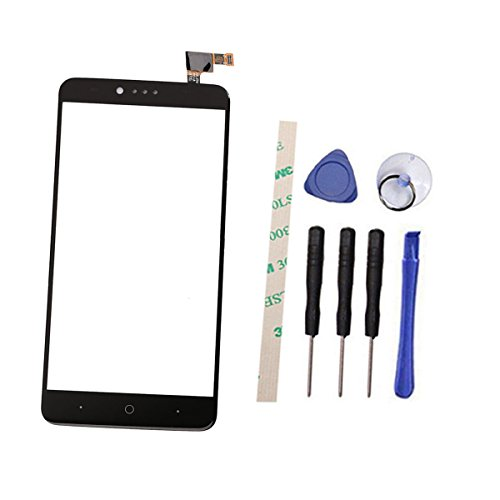 Digitizer Touch Screen Replacement for ZTE Zmax Pro Z981 MetroPCS 6.0 (Not LCD Display) with Adhesive (Black)
