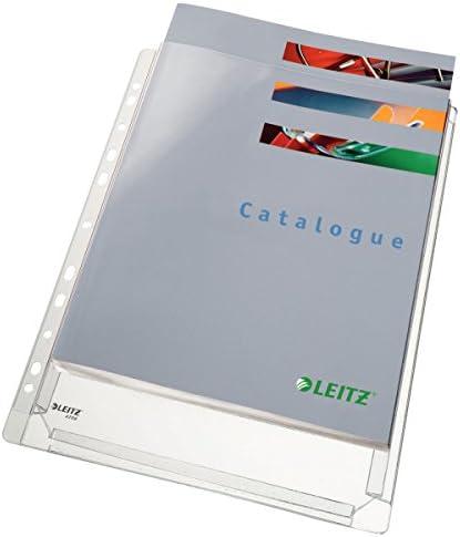 ESSELTE 47561003 - Fundas fuelle capacidad 20 mm PVC con refuerzo 170 micras (bolsa 10 ud.) DIN A4. 11 taladros