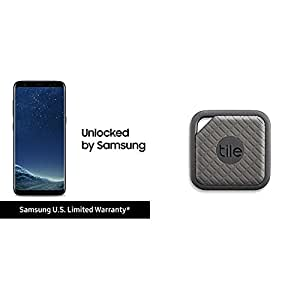 Samsung Galaxy S8 and Tile Sport Bundle - Black