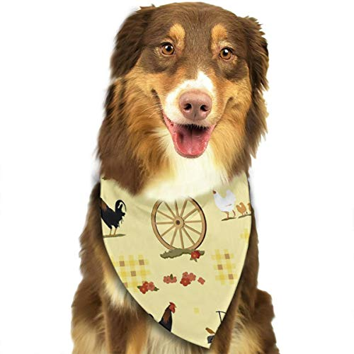 OURFASHION Country Farmyard Idyll Bandana Triangle Bibs Scarfs Accessories for Pet Cats and Puppies]()