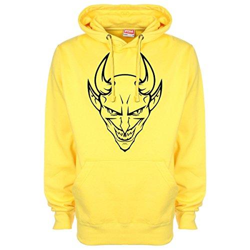 Grinning Devil Hoodie Hoodie Yellow Yellow Devil Grinning Minamo Grinning Hoodie Minamo Devil Minamo PEaaIqg