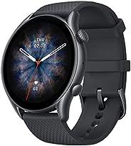Amazfit gtr 3 pro Preto gtr3 pro GTR-3 pro smartwatch amoled exibição zepp os app 12 dias de vida da bateria r