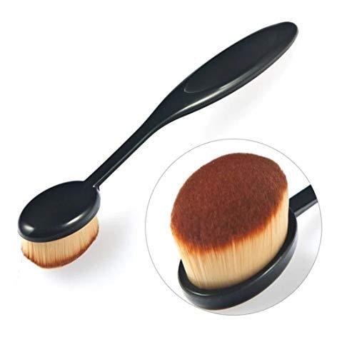 Digital Shoppy Professional Oval Makeup Foundation Contour Concealer Blending Brush Cosmetic Brushes Tool  Black Brown