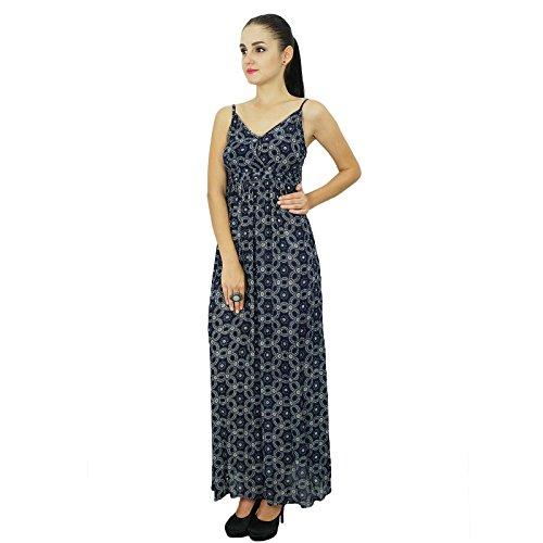 Bimba Noir Chic Femmes Wear Longue Été Robe Bohème Beach Maxi SMLUzVGqp