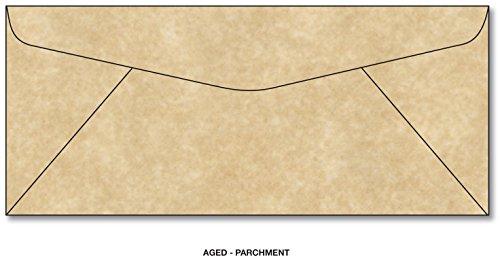 Parchment Aged #10 Business Size Envelopes - 50 Envelopes