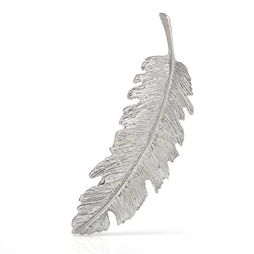 2019 Fashion 1PC Women Leaf Feather Hair Clip Ornament Party Decoration Hair Accessories,Style A-Silver