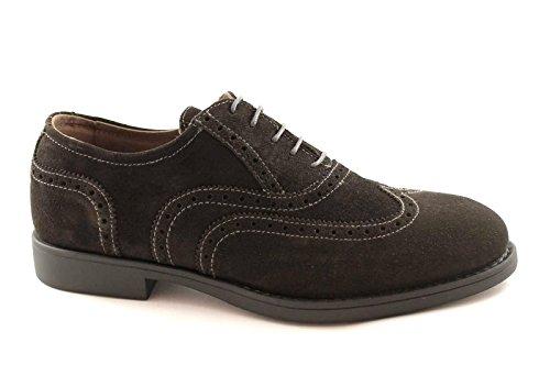 Anthracite chaussures BLACK Marron pointe JARDINS Les 03591 élégante sport homme de XESrEq