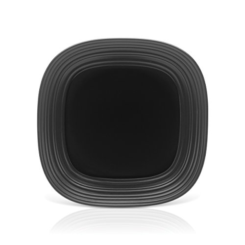 Mikasa Swirl Black Square Serving Platter, 12-Inch