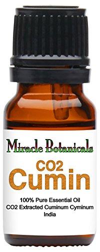 Miracle Botanicals CO2 Extracted Cumin Essential Oil - 100% Pure Cuminum Cyminum - Therapeutic Grade - 10ml