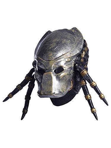Aliens Vs Predator Requiem Costume with Deluxe Overhead Predator Mask, Gray, One Size ()