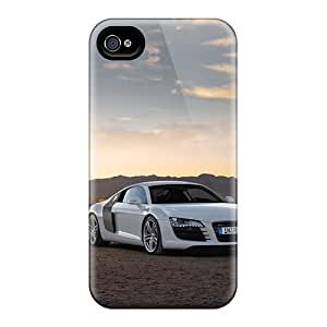 Shock Absorbent Hard Cell-phone Cases For Iphone 4/4s (QtA17301tqzk) Unique Design Lifelike Audi R8 Pattern