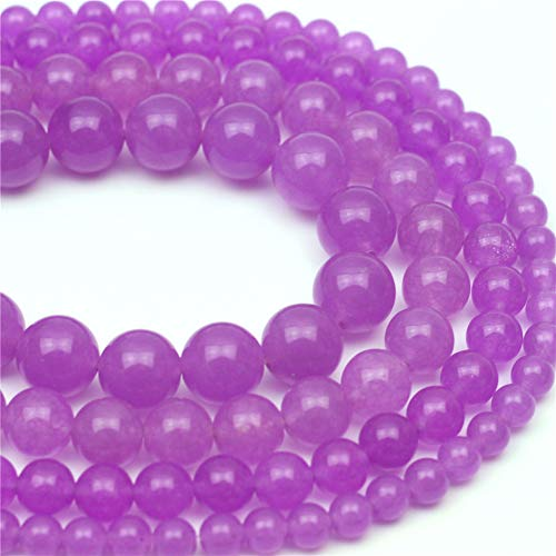 - Oameusa 8mm Purple-red Chalcedony Beads Round Beads Gemstone Beads Loose Beads Agate Beads for Jewelry Making 15